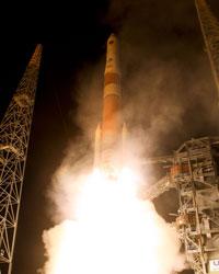 Start rakiety Delta z satelitą GPS