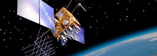 Satélite del GPS en órbita circunterrestre